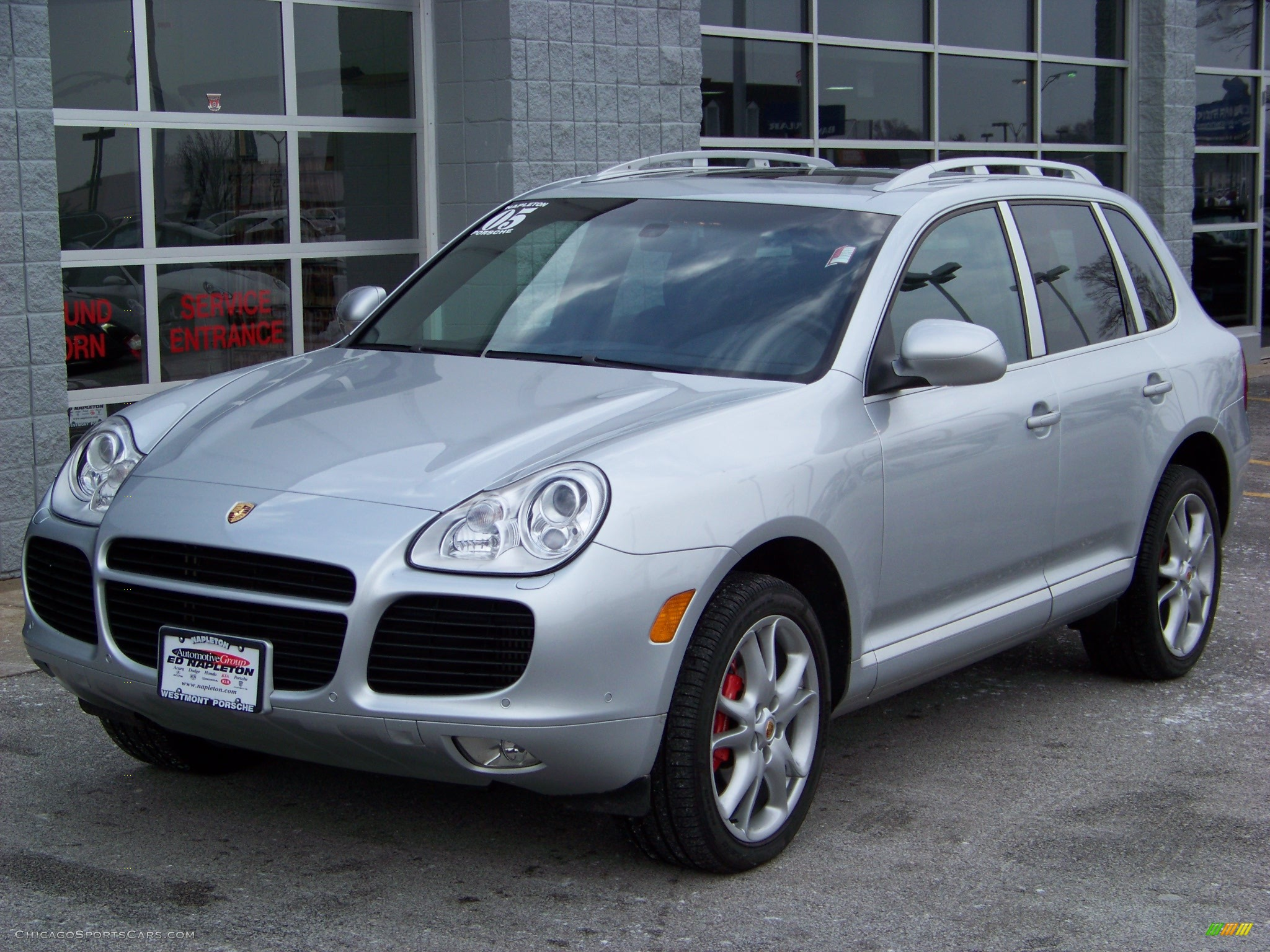 2005 porsche cayenne turbo in crystal silver metallic a92519 cars. Black Bedroom Furniture Sets. Home Design Ideas