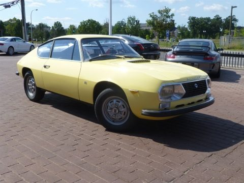 Yellow 1971 Lancia Fulvia S