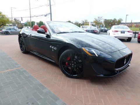 Nero (Black) 2016 Maserati GranTurismo Convertible GT Sport