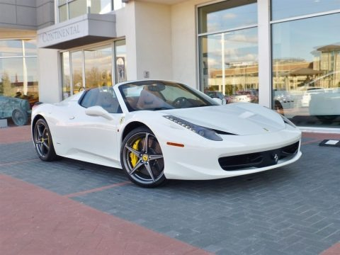Bianco Avus (White) 2014 Ferrari 458 Italia
