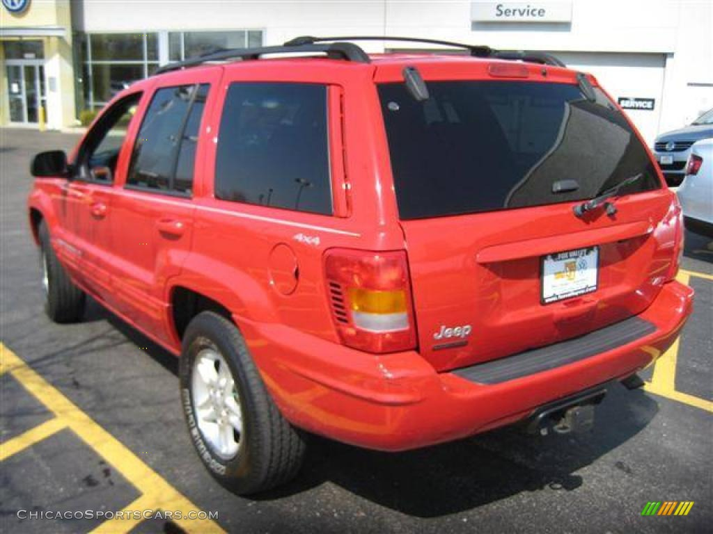 1999 Jeep Grand Cherokee Limited 4x4 In Flame Red Photo 3 633052 Chicagosportscars Com