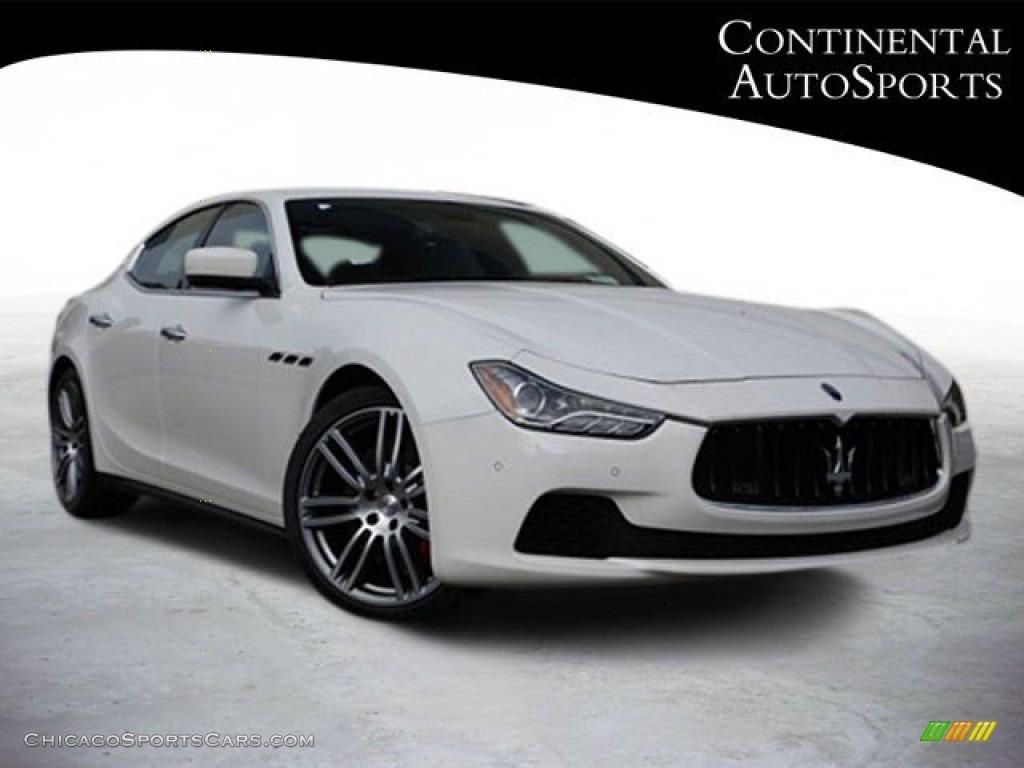 Bianco (White) / Cuoio Maserati Ghibli S Q4