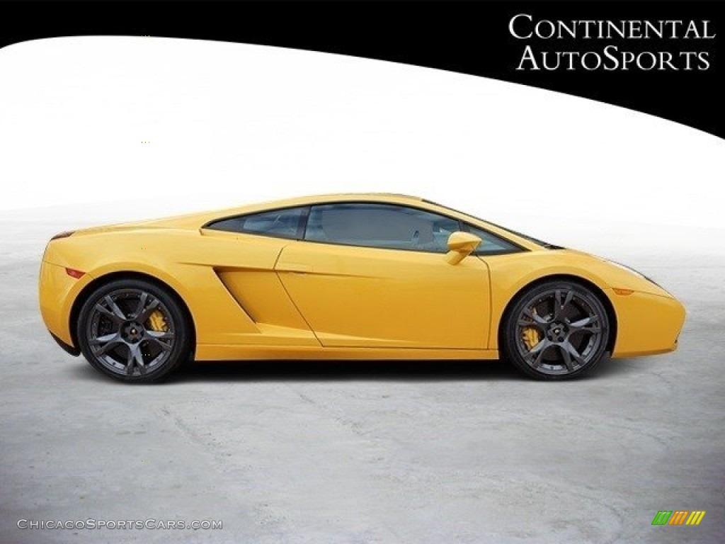 2007 Gallardo Coupe - Giallo Halys (Yellow) / Black/Yellow photo #3