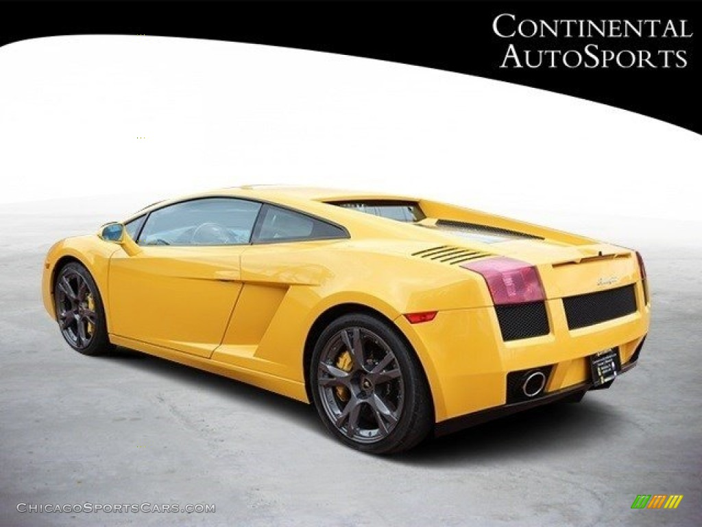 2007 Gallardo Coupe - Giallo Halys (Yellow) / Black/Yellow photo #6