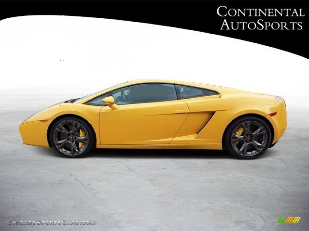 2007 Gallardo Coupe - Giallo Halys (Yellow) / Black/Yellow photo #7