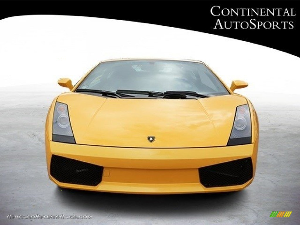 2007 Gallardo Coupe - Giallo Halys (Yellow) / Black/Yellow photo #9