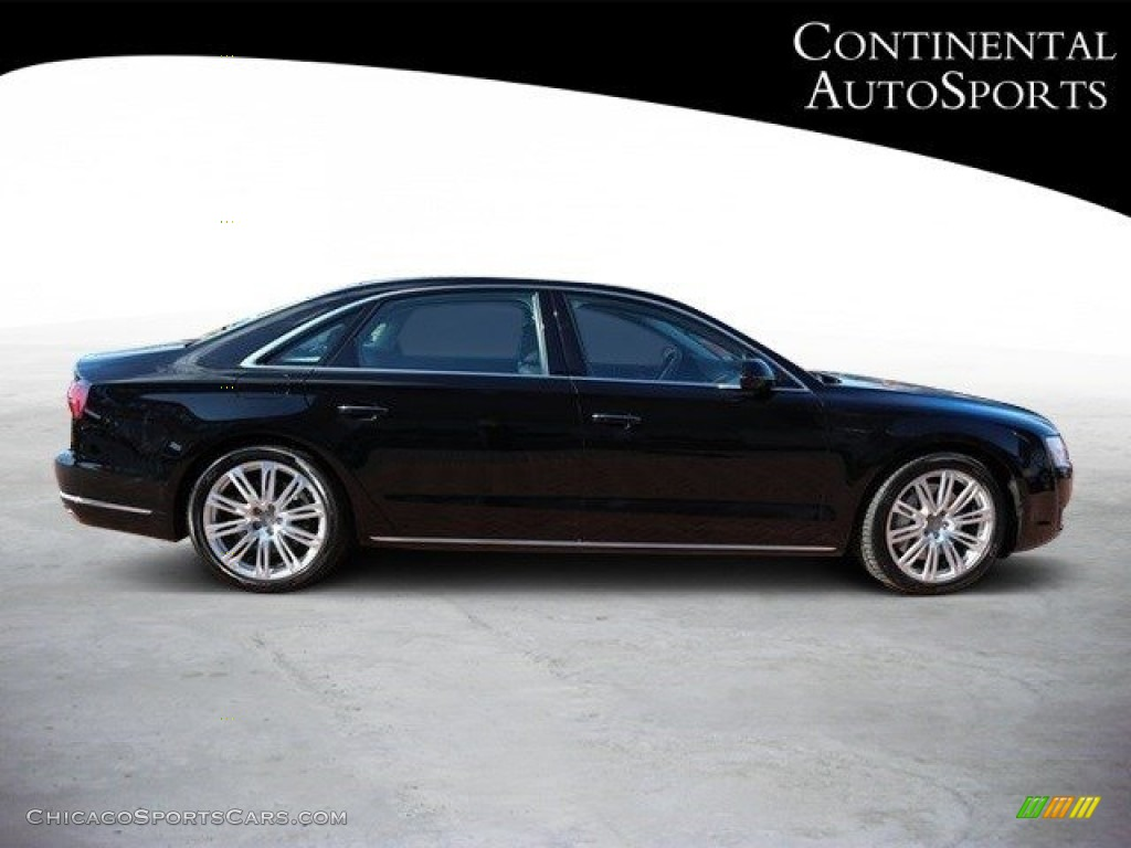 2015 A8 L 3.0T quattro - Phantom Black Pearl / Black photo #3