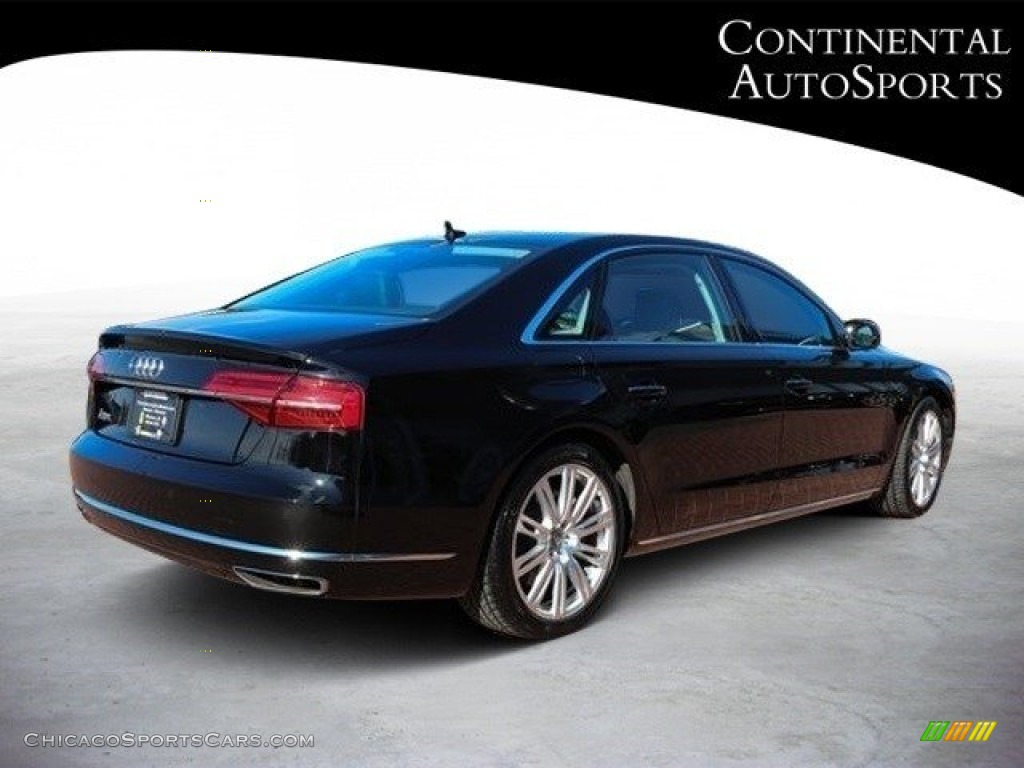 2015 A8 L 3.0T quattro - Phantom Black Pearl / Black photo #4