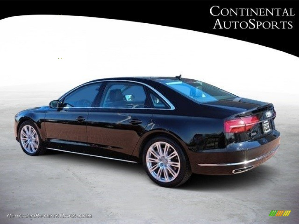 2015 A8 L 3.0T quattro - Phantom Black Pearl / Black photo #6