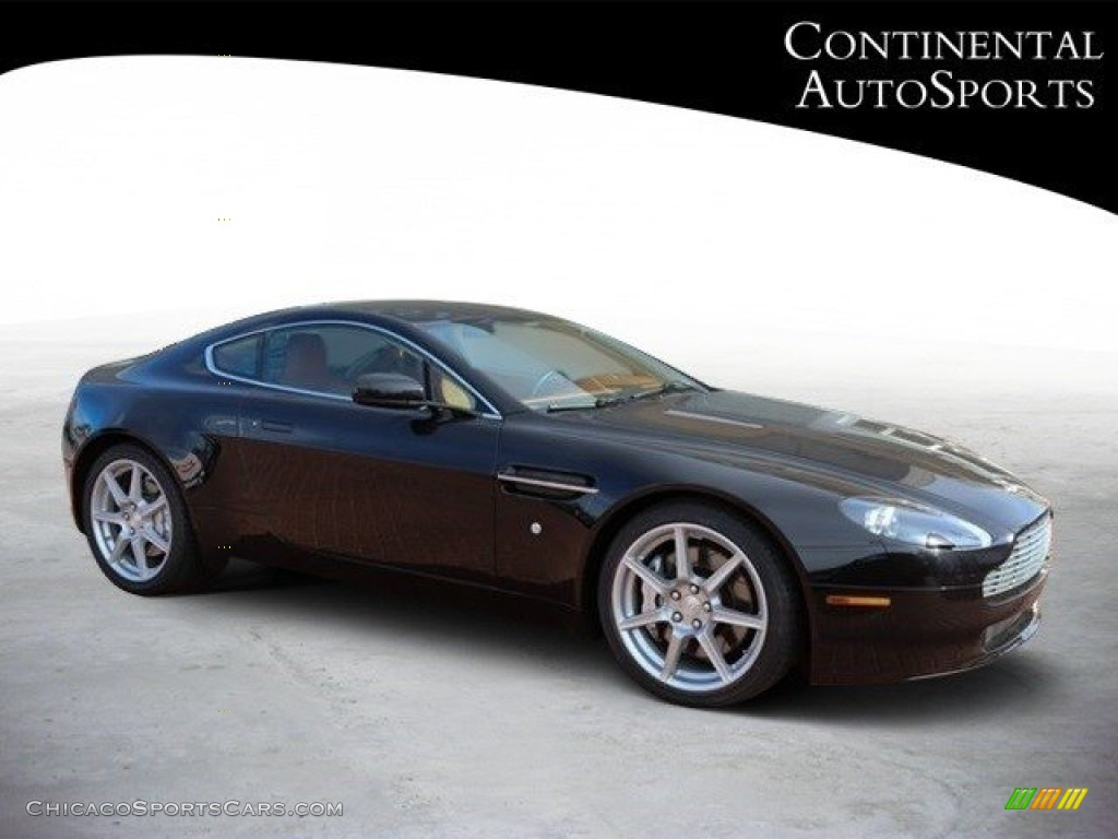 2007 V8 Vantage Coupe - Black / Kestrel Tan photo #1