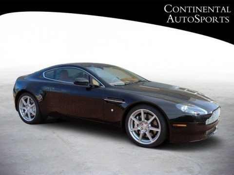 Black 2007 Aston Martin V8 Vantage Coupe
