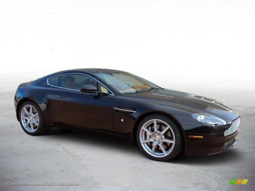 2007 V8 Vantage Coupe - Black / Kestrel Tan photo #2
