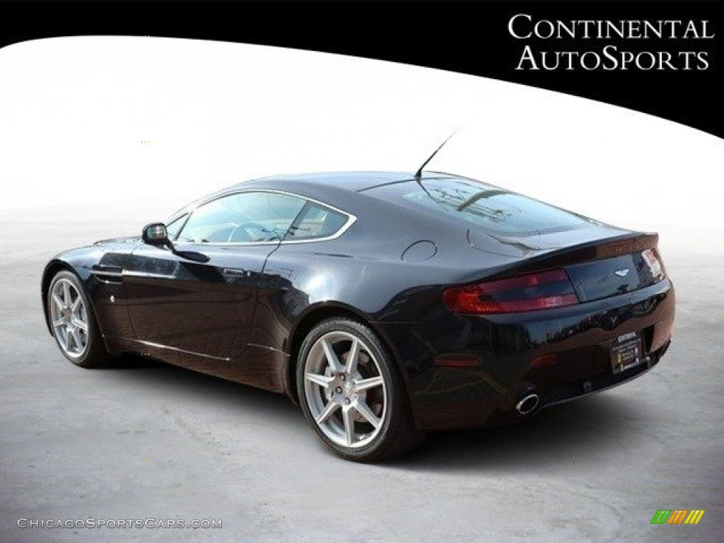 2007 V8 Vantage Coupe - Black / Kestrel Tan photo #6