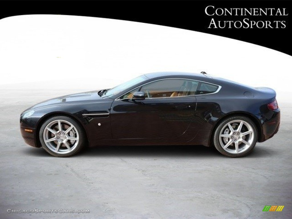 2007 V8 Vantage Coupe - Black / Kestrel Tan photo #7