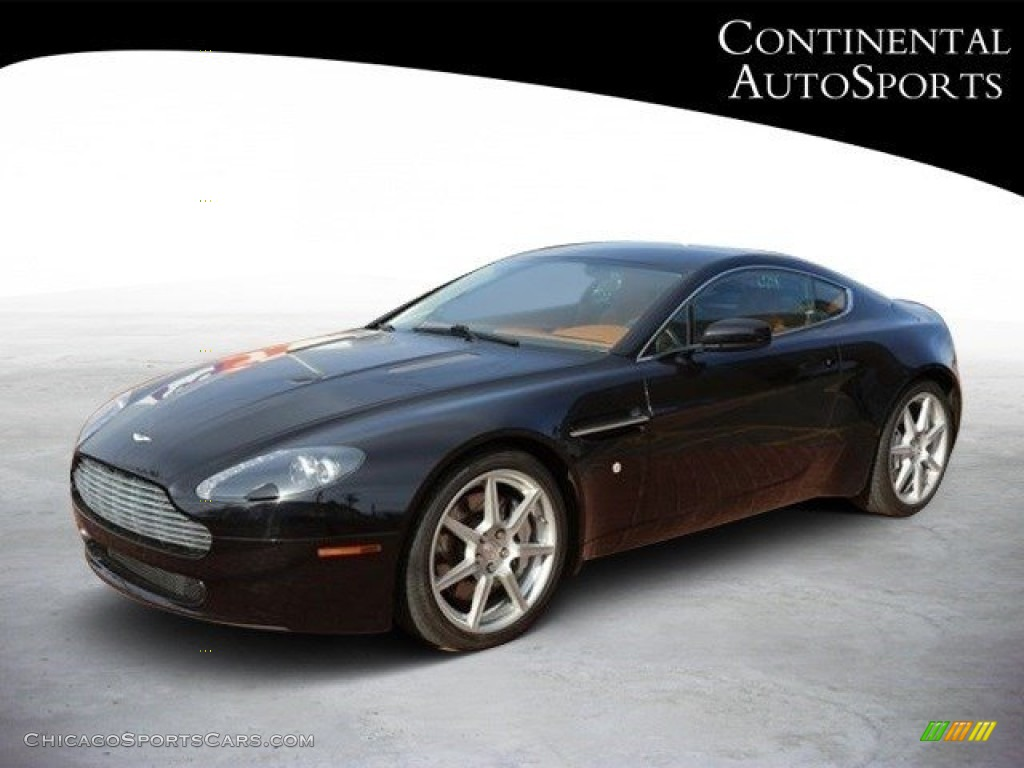 2007 V8 Vantage Coupe - Black / Kestrel Tan photo #8