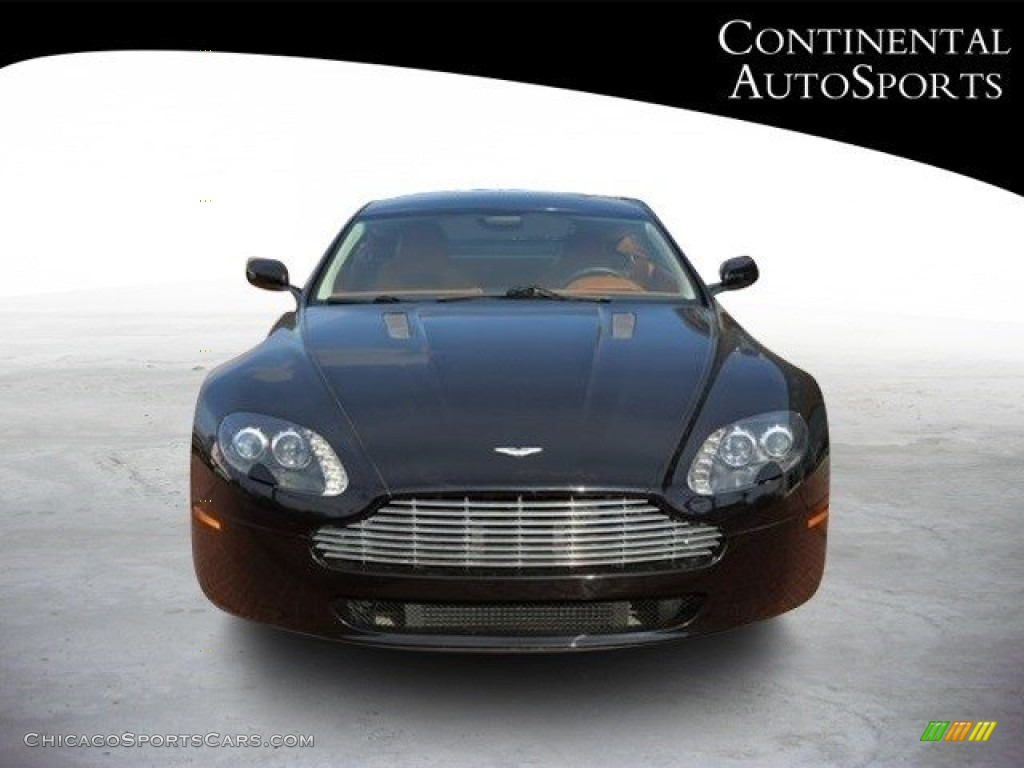 2007 V8 Vantage Coupe - Black / Kestrel Tan photo #9