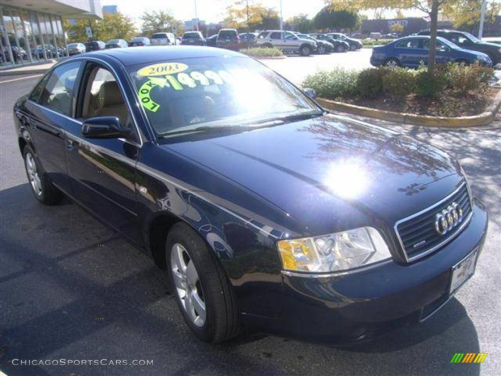 2003 audi a6 3 0 quattro sedan in ming blue pearl effect 049270 cars. Black Bedroom Furniture Sets. Home Design Ideas