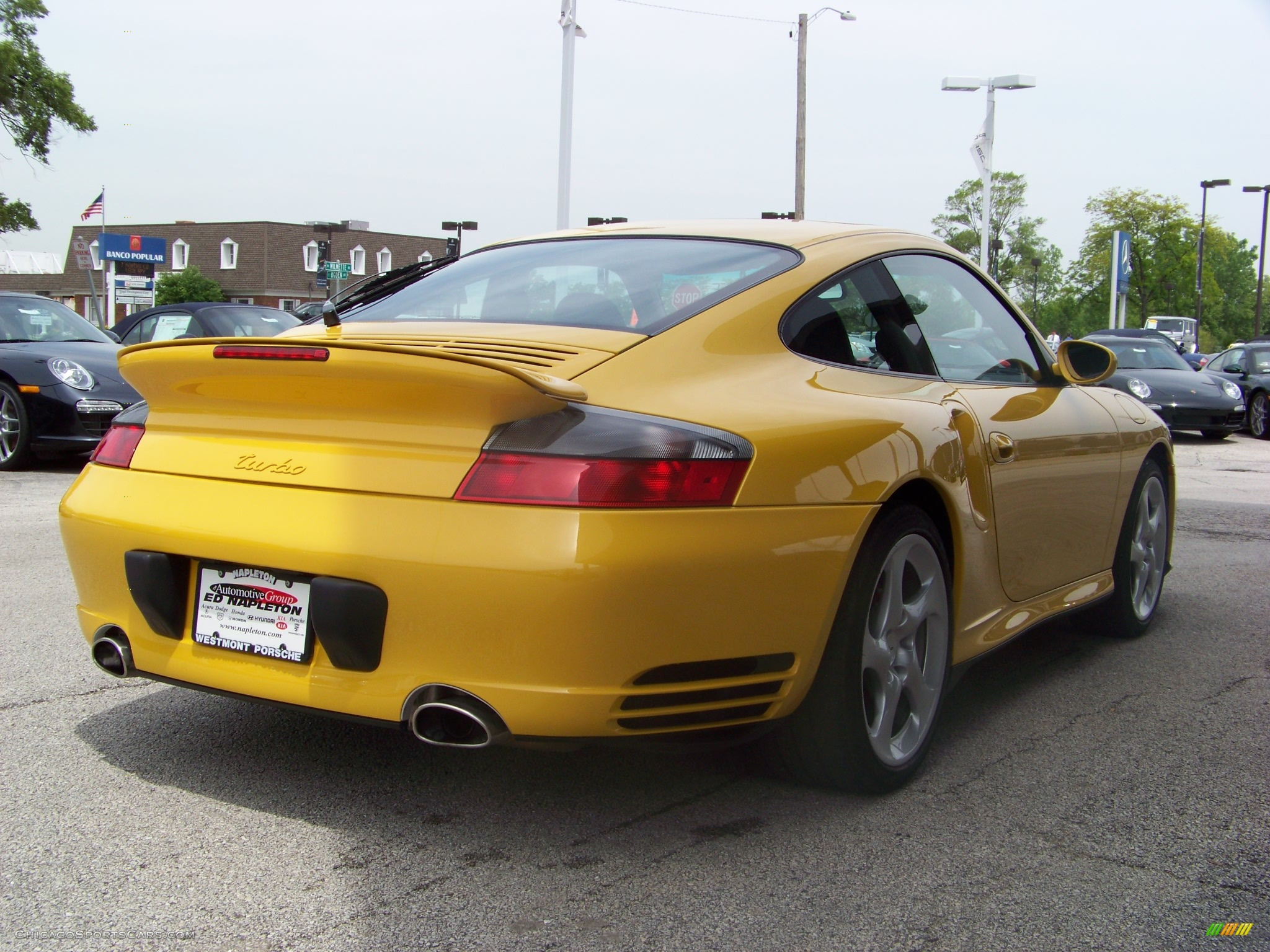 2004 Porsche 911 Turbo Coupe in Speed Yellow photo #3 ...
