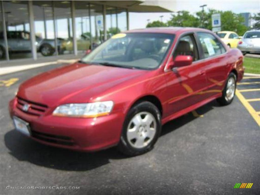 2001 Accord EX V6 Sedan - Firepepper Red Pearl / Ivory photo #1