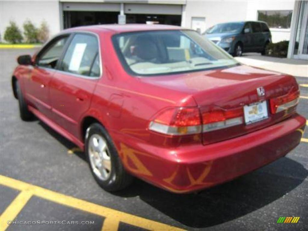 2001 Honda Accord Ex V6 Sedan In Firepepper Red Pearl Photo 3 064011 Chicagosportscars Com