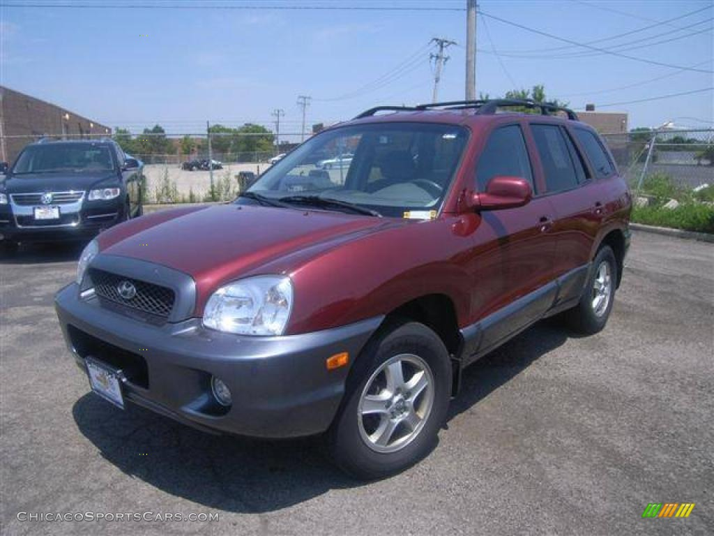 2004 hyundai santa fe gls 4wd in merlot red 643947. Black Bedroom Furniture Sets. Home Design Ideas