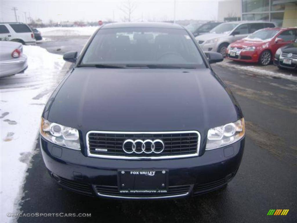 2004 Audi A4 3.0 quattro Sedan in Moro Blue Pearl Effect photo #7 - 179956 | ChicagoSportsCars ...