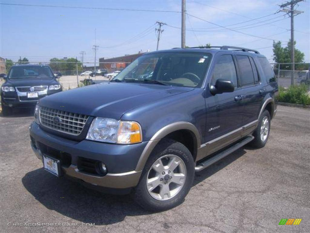 2004 Explorer Eddie Bauer 4x4 - Medium Wedgewood Blue Metallic / Medium Parchment photo #1
