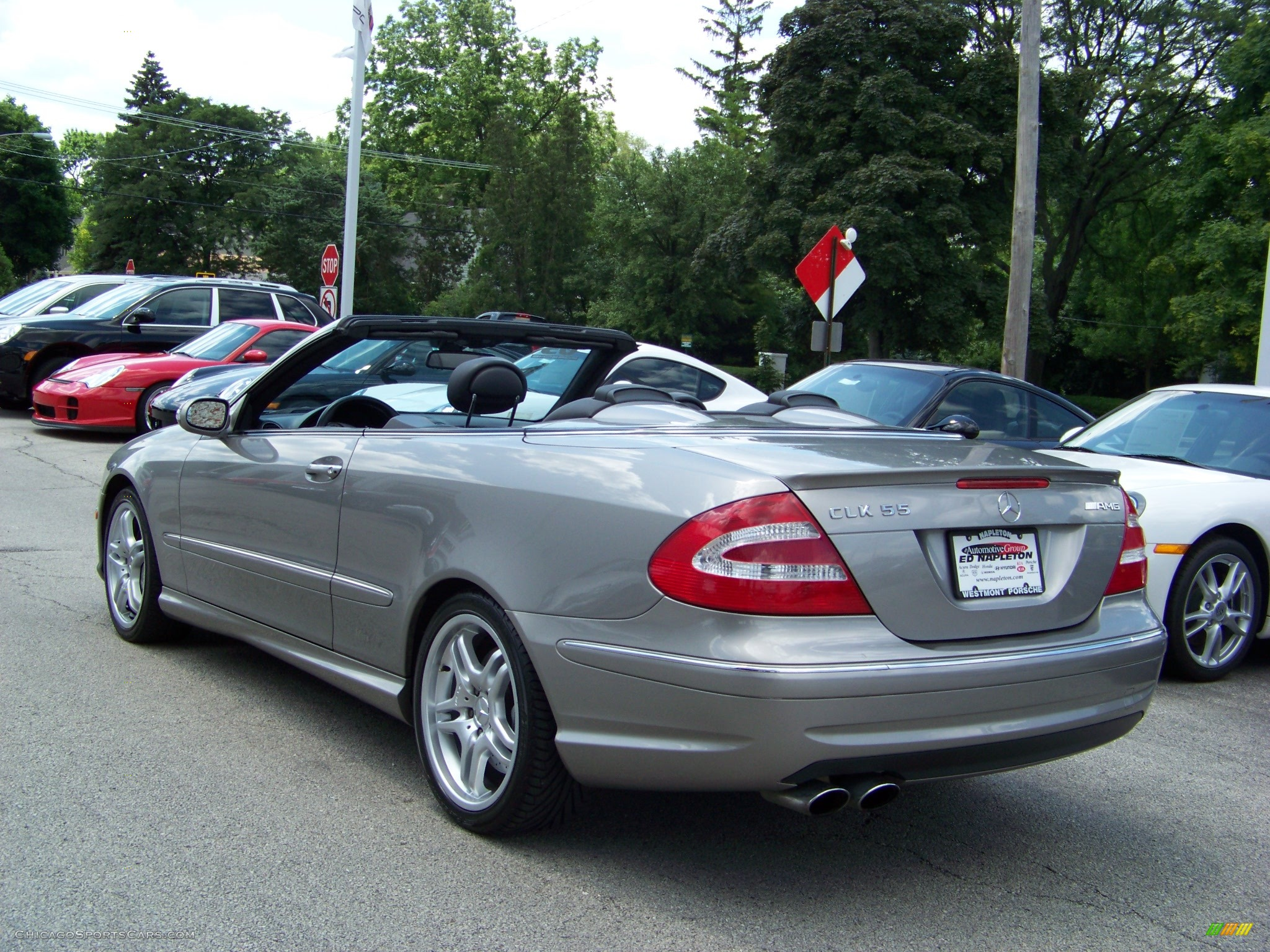 2005 mercedes benz clk 55 amg cabriolet in pewter metallic. Black Bedroom Furniture Sets. Home Design Ideas