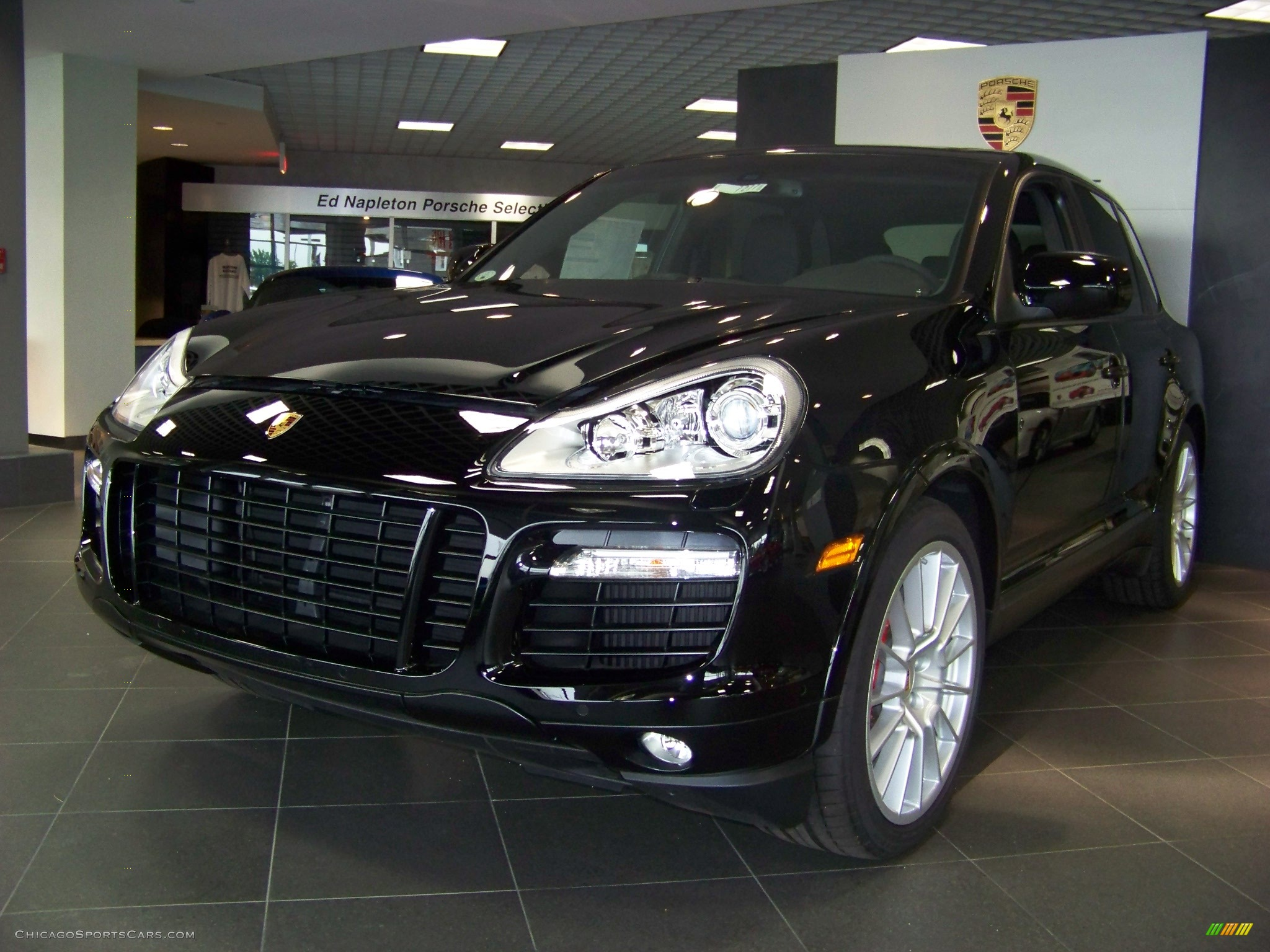 2009 porsche cayenne turbo s in black a82657 cars for sale in illinois. Black Bedroom Furniture Sets. Home Design Ideas