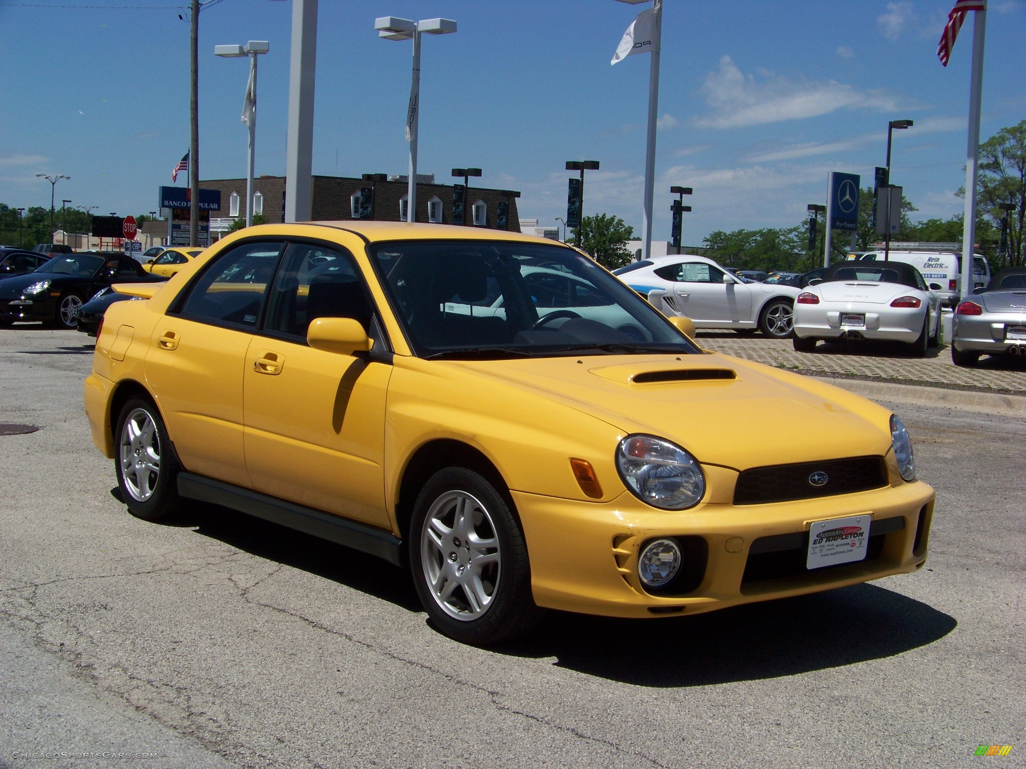 2003 Subaru Impreza Wrx Sedan In Sonic Yellow Photo 3