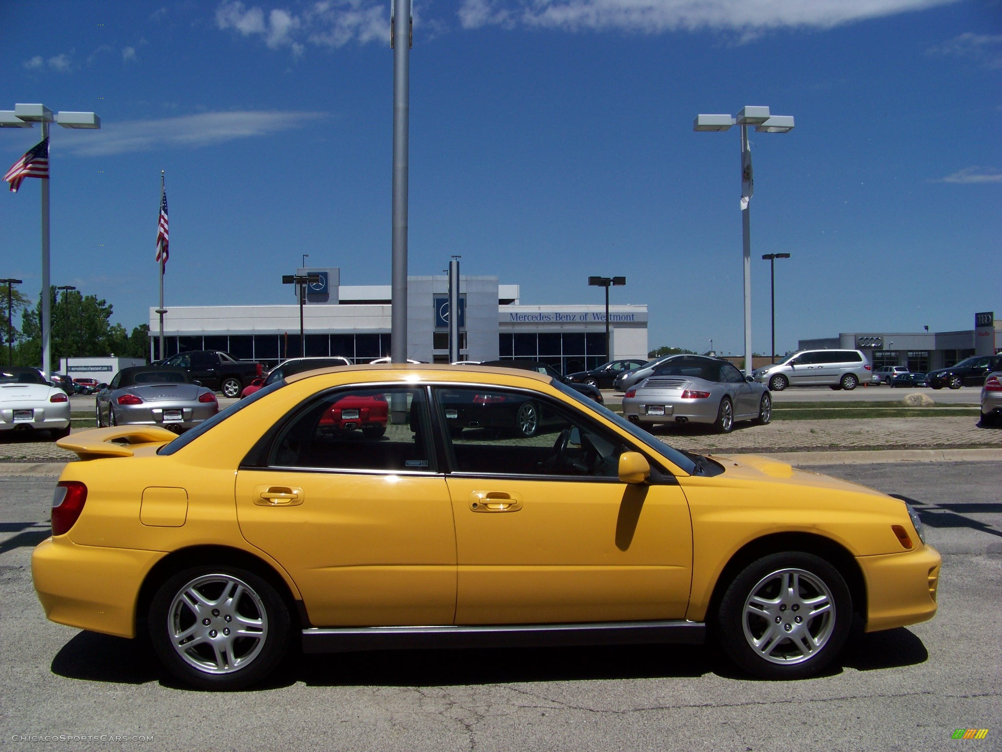 2003 subaru impreza wrx sedan in sonic yellow photo 4 501865 cars. Black Bedroom Furniture Sets. Home Design Ideas