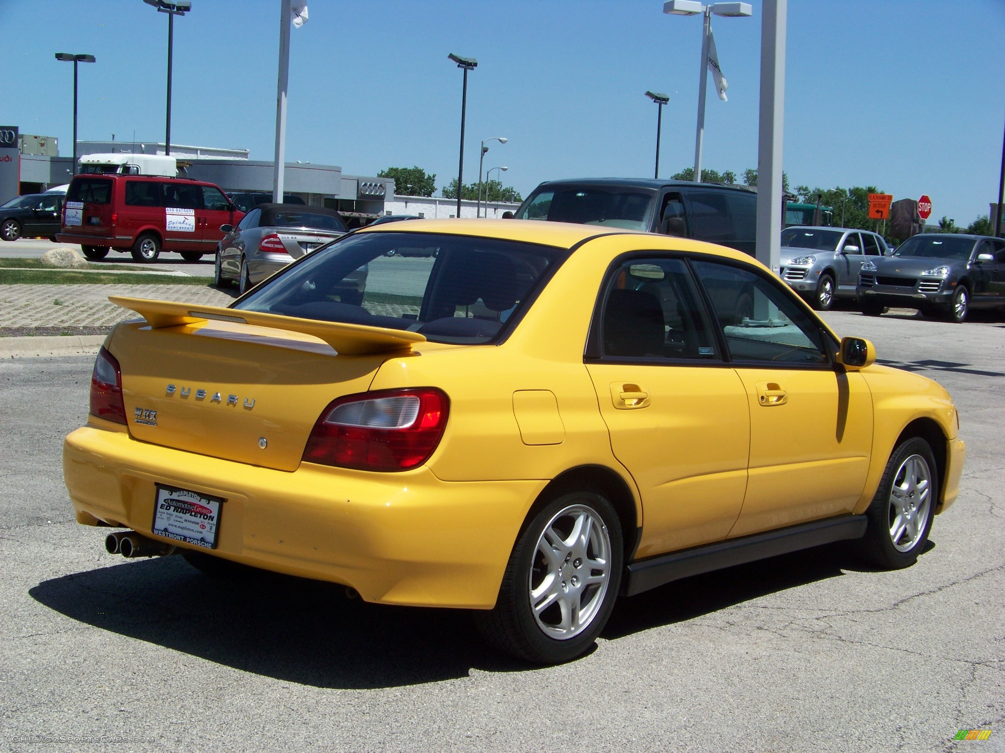 2003 Subaru Impreza WRX Sedan in Sonic Yellow photo #5 ...