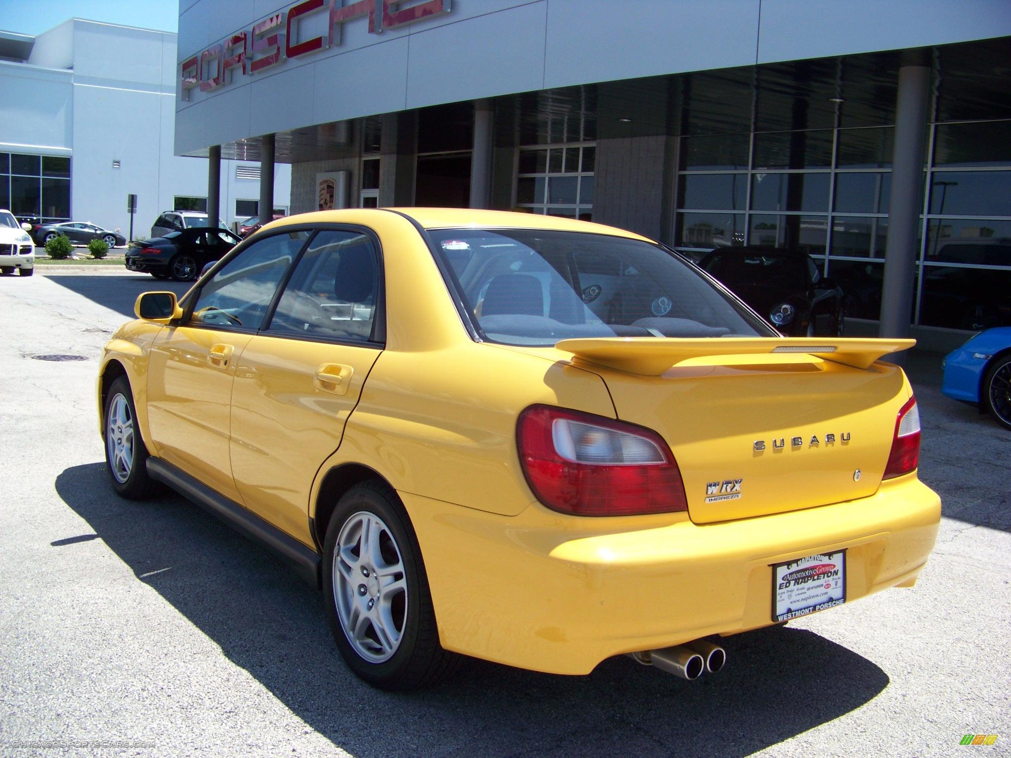 2003 subaru impreza wrx sedan in sonic yellow photo 6 501865 cars. Black Bedroom Furniture Sets. Home Design Ideas