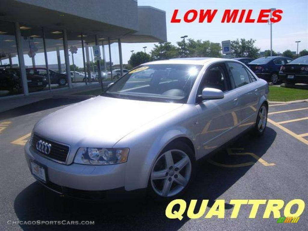 2002 Audi A4 3 0 Quattro Sedan In Light Silver Metallic 216969 Chicagosportscars Com Cars