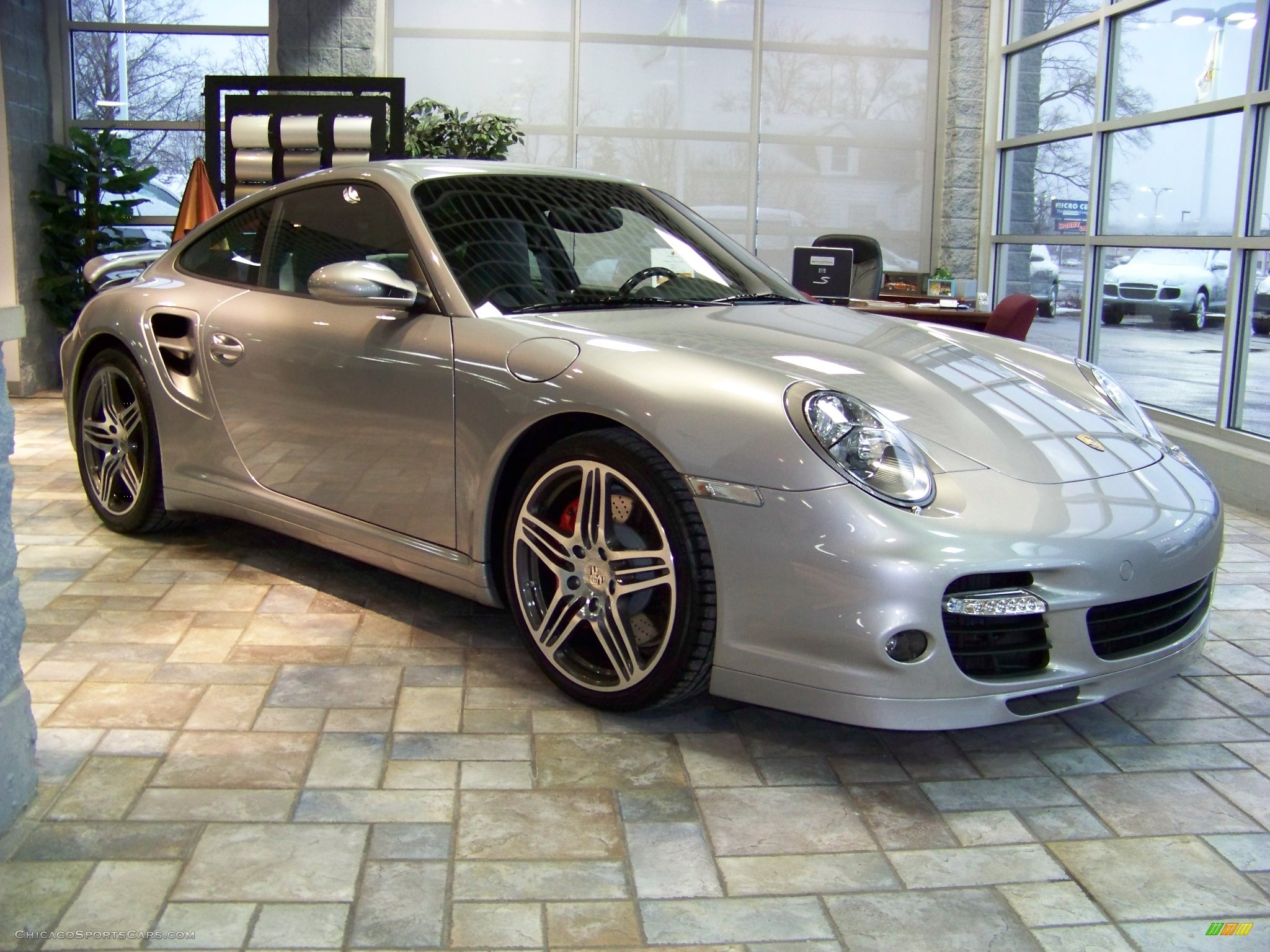 2008 Porsche 911 Turbo Coupe In Gt Silver Metallic Photo