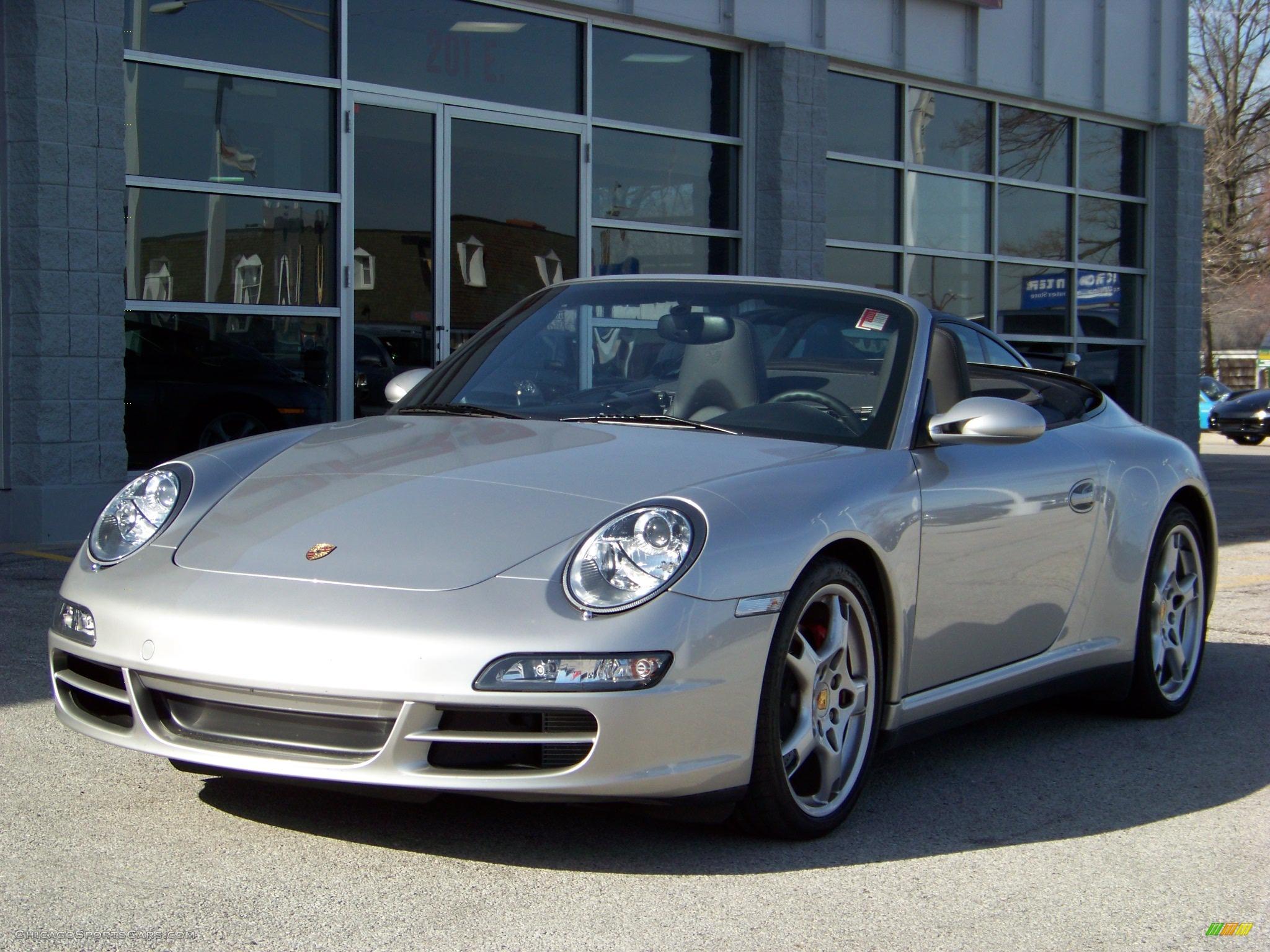 2006 Porsche 911 Carrera 4S Cabriolet in Arctic Silver ...