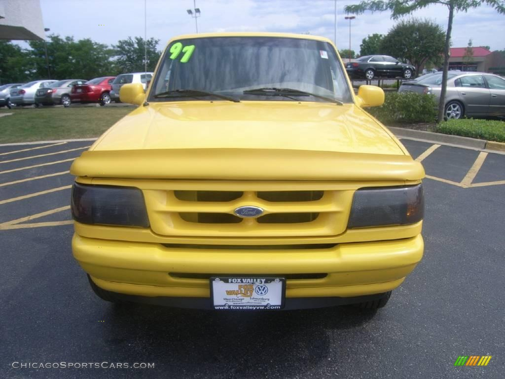1997 Ford Ranger Splash Extended Cab 4x4 In Canary Yellow Photo 8 A37455 Chicagosportscars