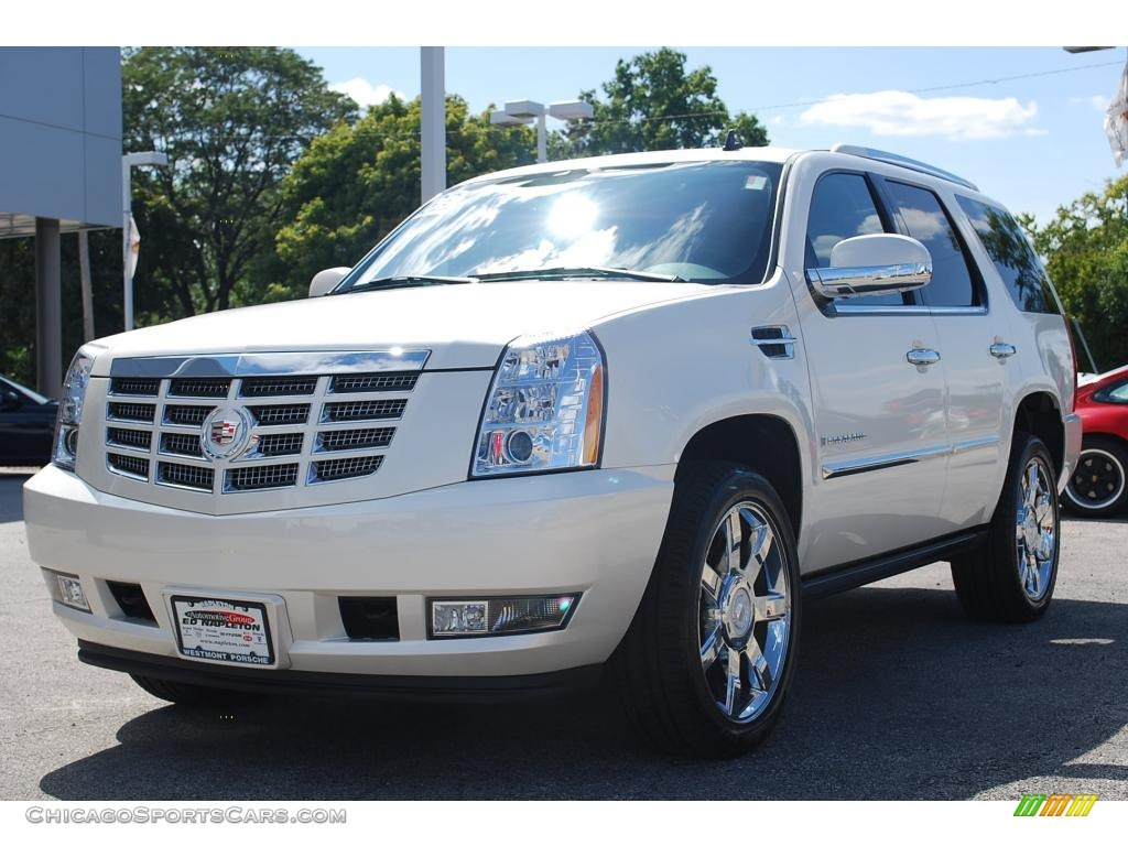 2008 Cadillac Escalade Awd In White Diamond 154912