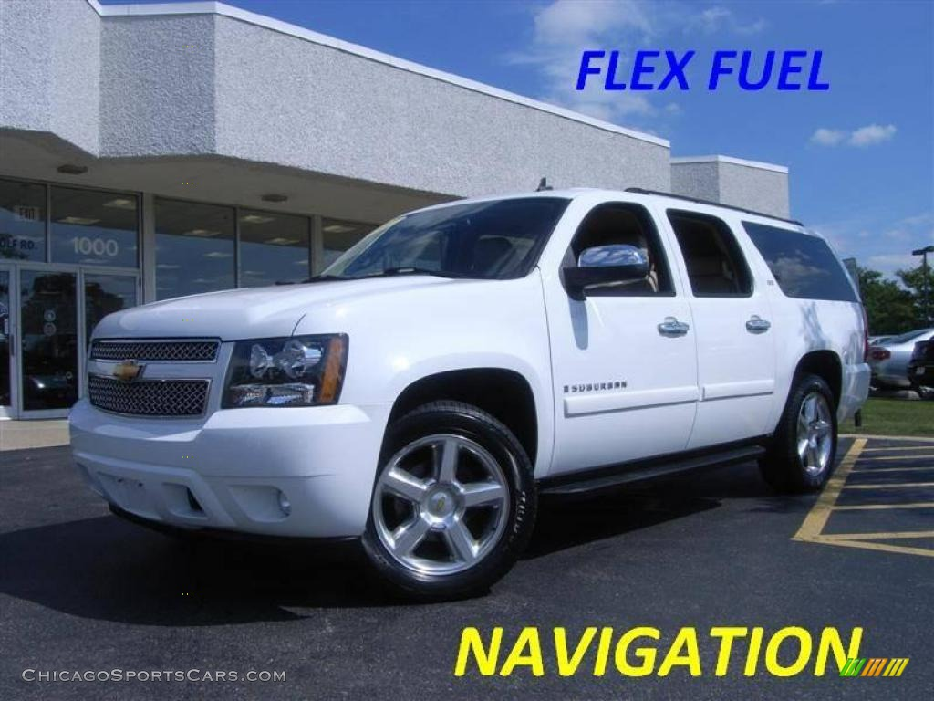 2007 chevrolet suburban 1500 ltz 4x4 in summit white 277553 cars for. Black Bedroom Furniture Sets. Home Design Ideas