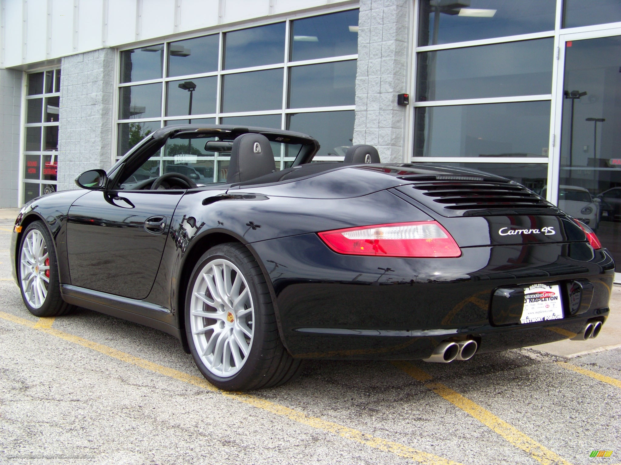 2008 porsche 911 carrera 4s cabriolet in black photo 8. Black Bedroom Furniture Sets. Home Design Ideas