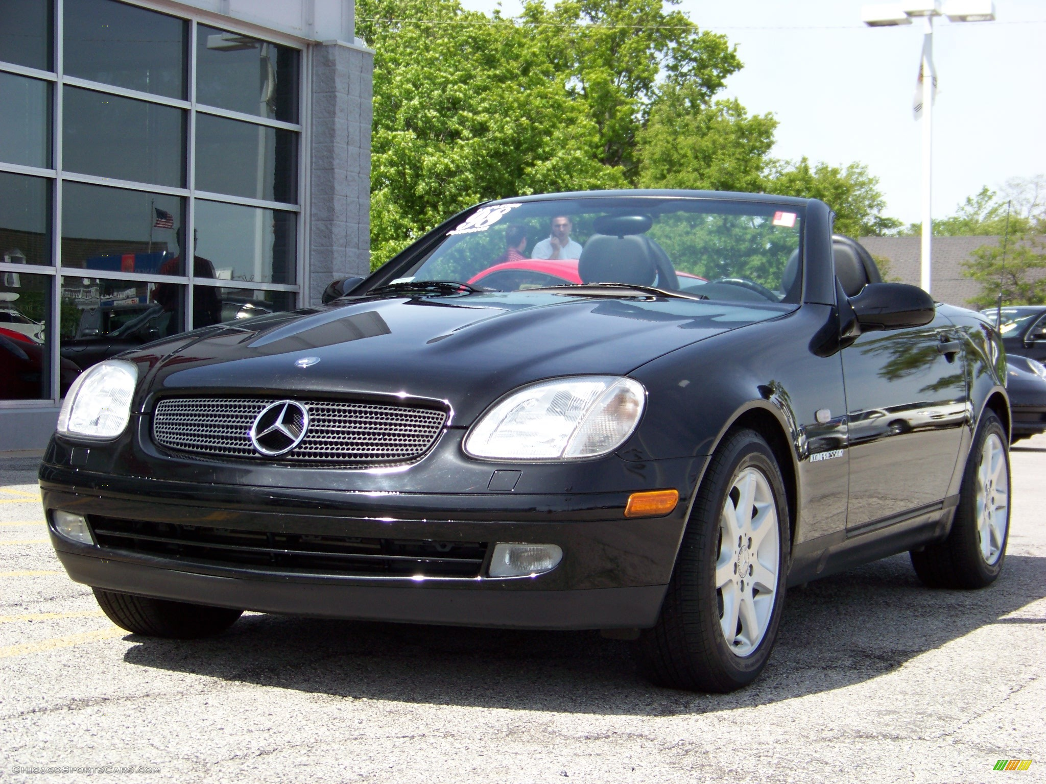 1998 mercedes benz slk 230 kompressor roadster in black for Mercedes benz slk230 kompressor