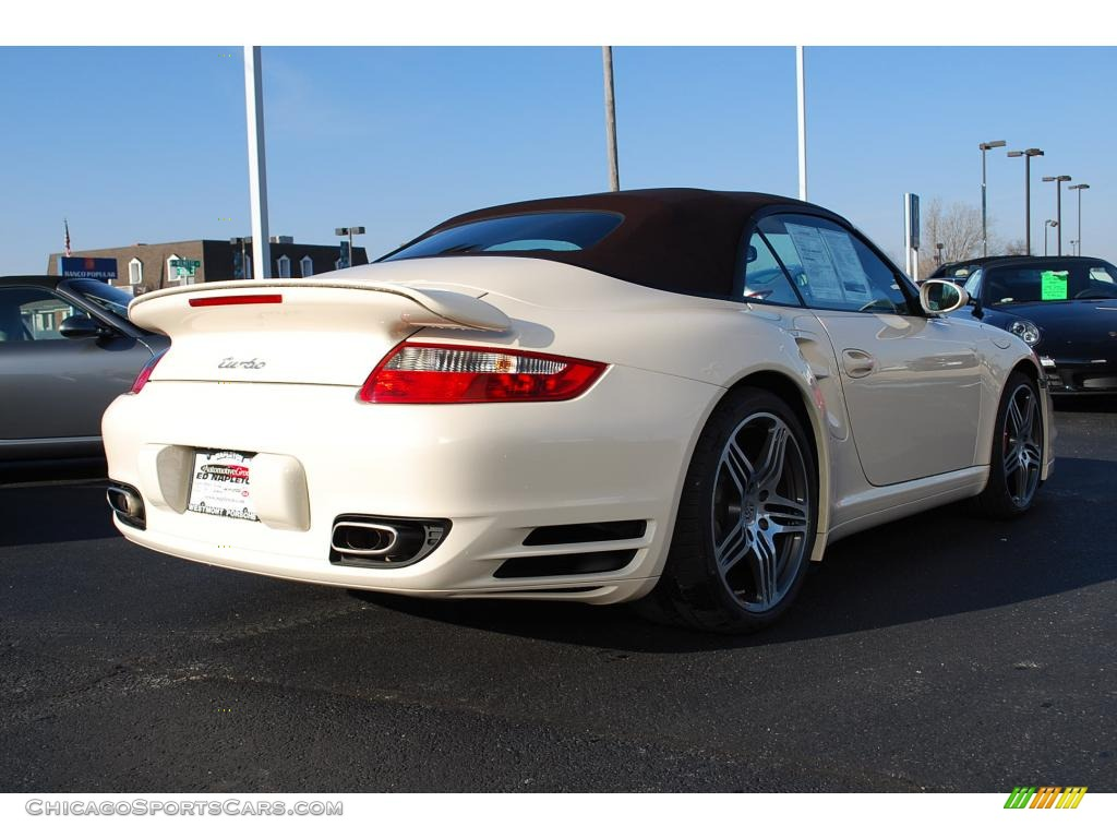 2009 porsche 911 turbo cabriolet in cream white photo 5. Black Bedroom Furniture Sets. Home Design Ideas