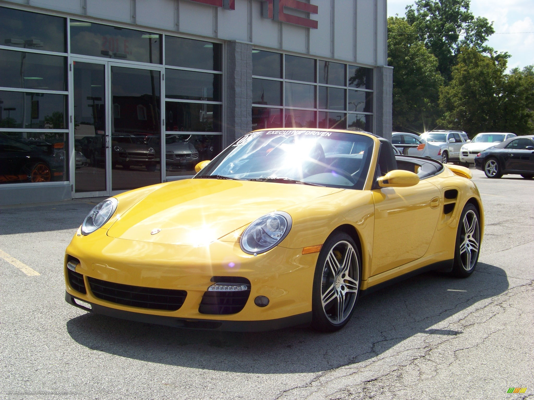 2008 porsche 911 turbo cabriolet in speed yellow 788067 cars for. Black Bedroom Furniture Sets. Home Design Ideas