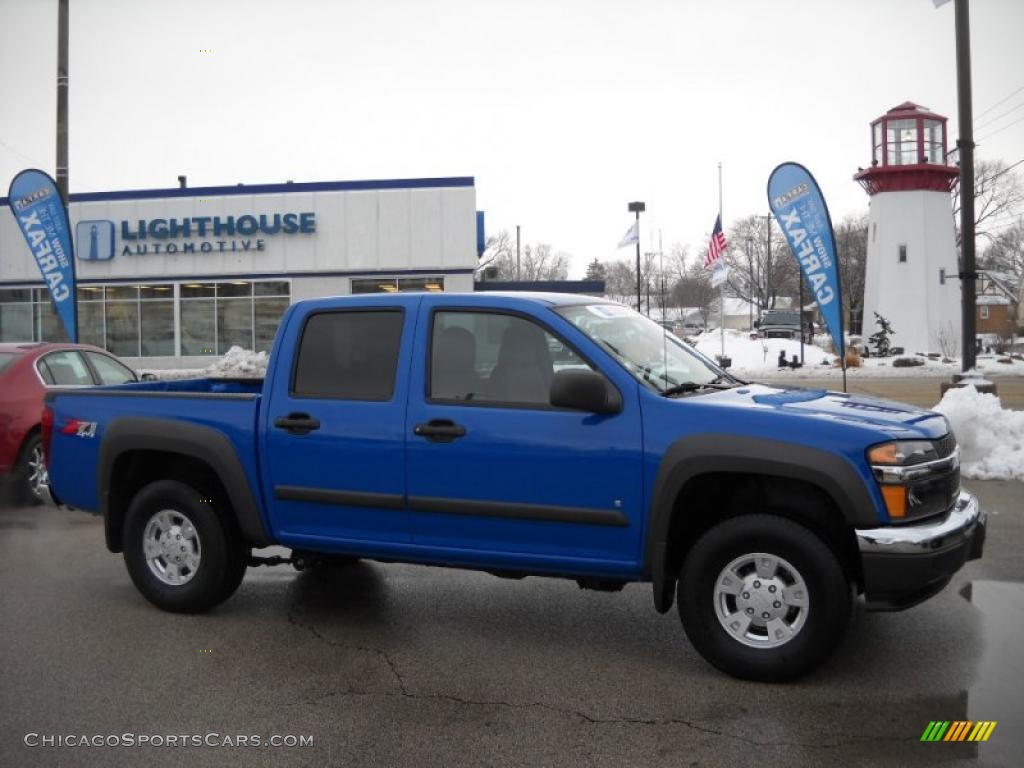 2007 chevrolet colorado lt crew cab 4x4 in pace blue - 250521