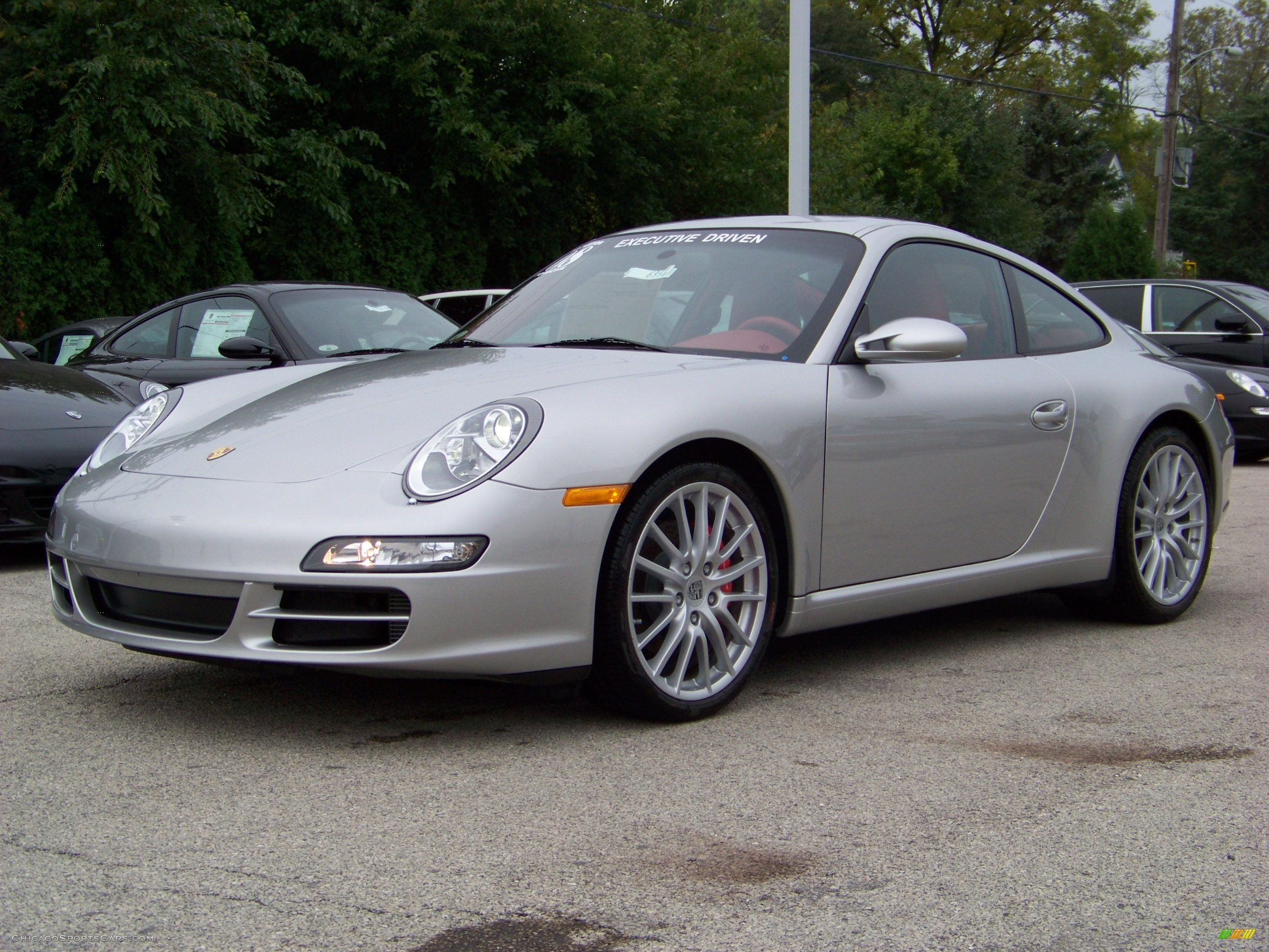 2008 porsche 911 carrera s coupe in arctic silver metallic 731118. Black Bedroom Furniture Sets. Home Design Ideas