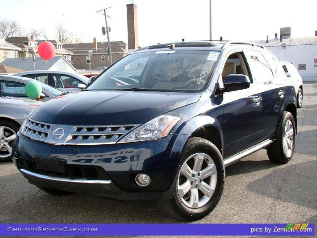 2006 nissan murano sl awd in midnight blue pearl 530754. Black Bedroom Furniture Sets. Home Design Ideas