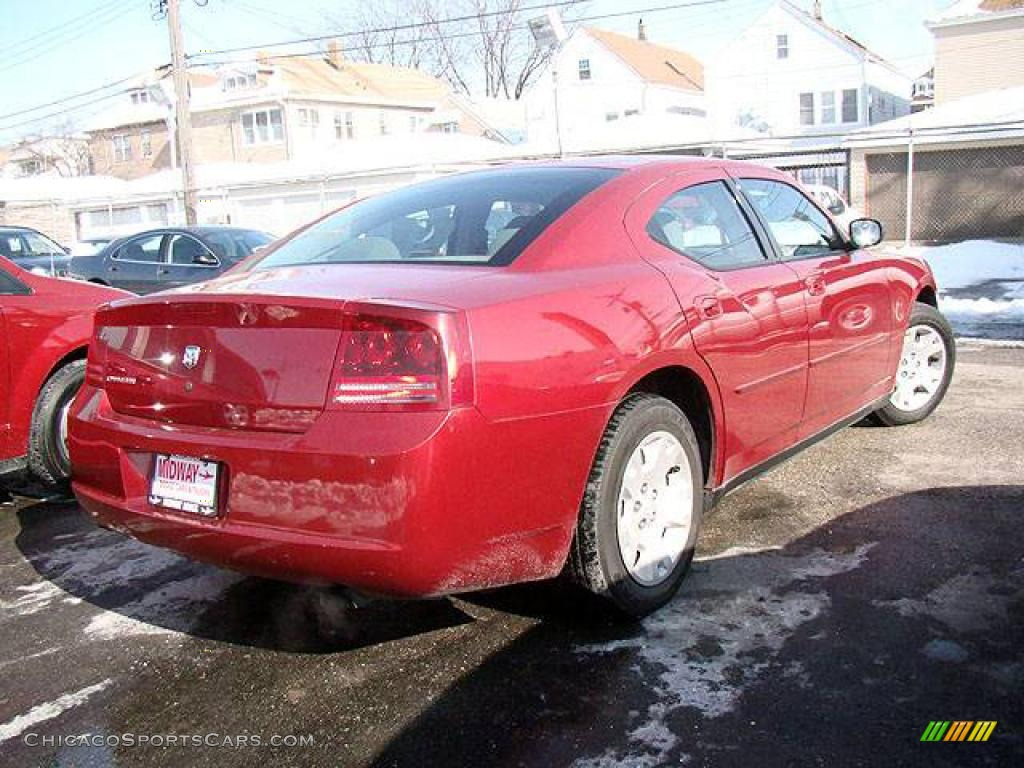 2007 Dodge Charger In Inferno Red Crystal Pearl Photo 2 756331 Cars