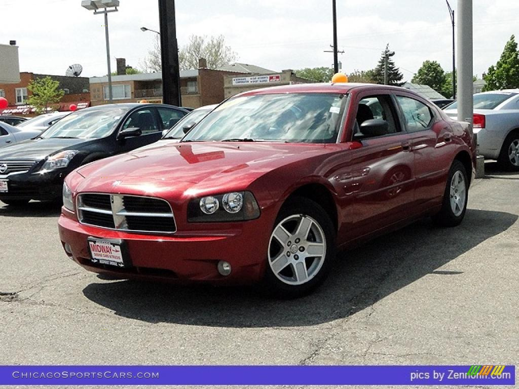 2007 Dodge Charger Sxt In Inferno Red Crystal Pearl 733200 Cars For