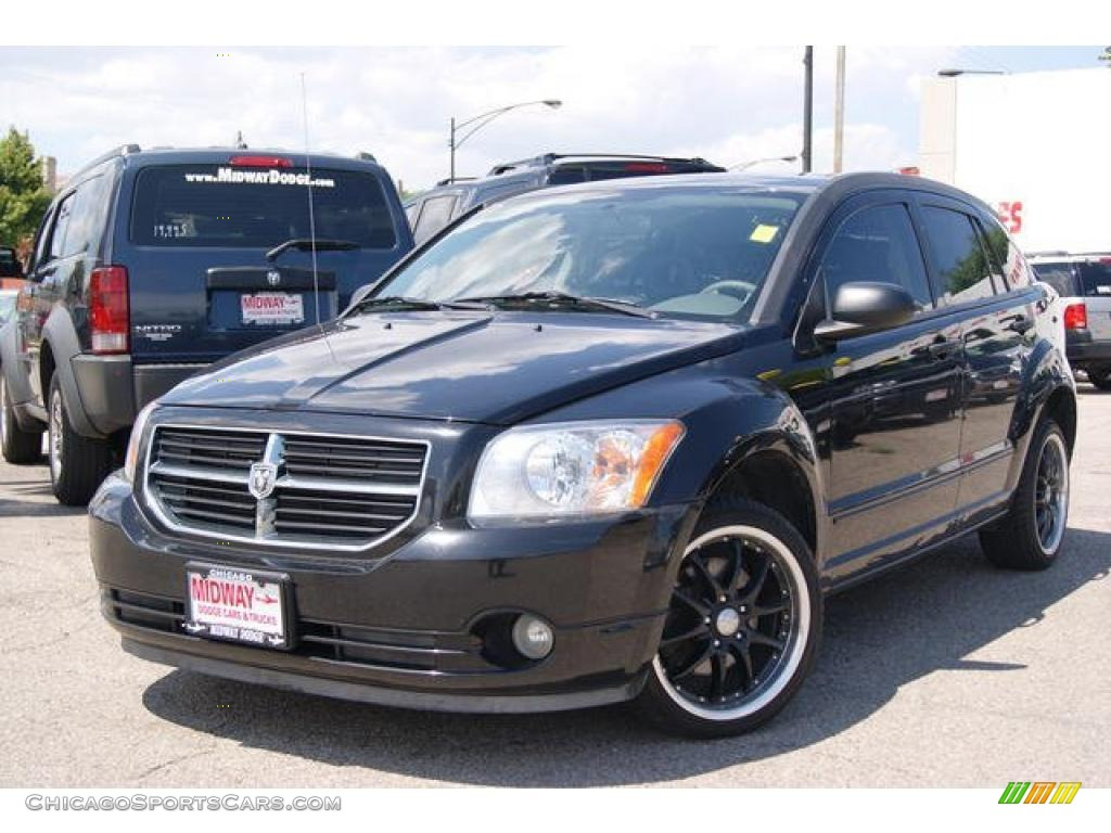 2007 dodge caliber sxt in black 588333 cars for sale in illinois. Black Bedroom Furniture Sets. Home Design Ideas