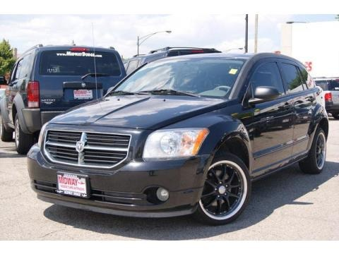 Brilliant Black Crystal Pearl 2007 Dodge Caliber SXT